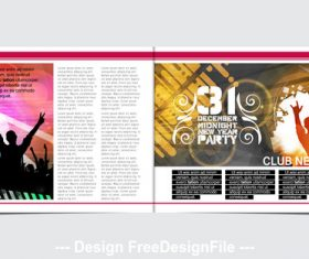 Design dance poster template vector