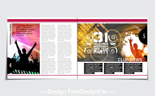 Design dance poster template vector