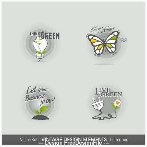 Design elements labels vector