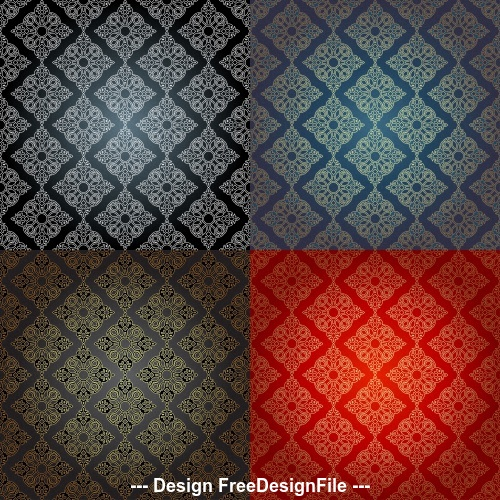 Different background color patterns vector