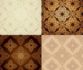Different color patterns vector