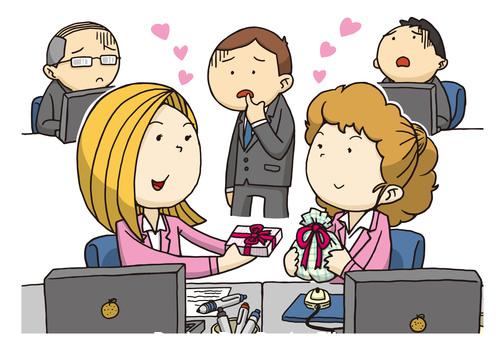 Different love cartoons vector