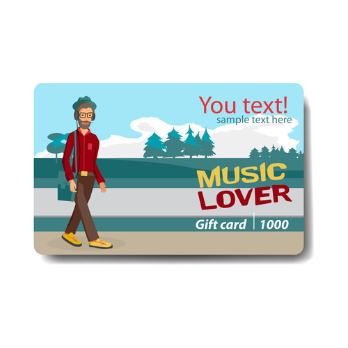 Discount gift card vector