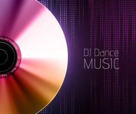 Dj dance music flyer vector