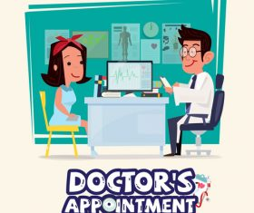 Doctor cartoon illustration vector