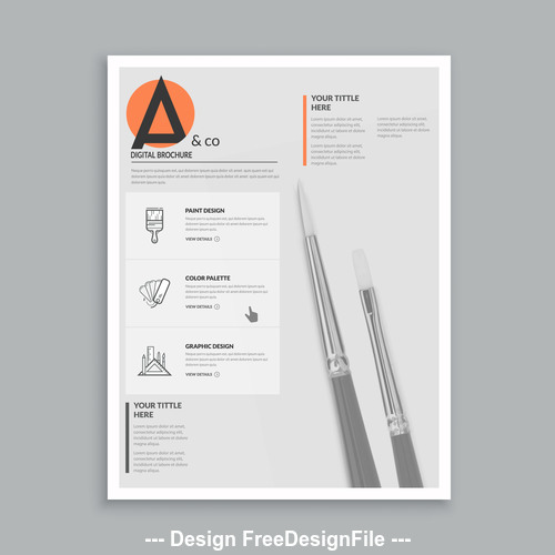 Drawing brochure cover template vector