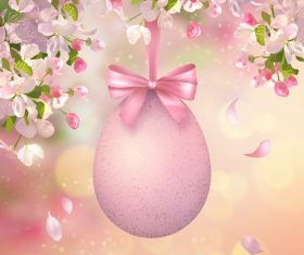 Easter decorative card vector