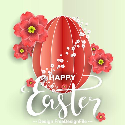 Easter origami egg vector