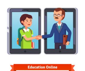 Education online template illustration vector
