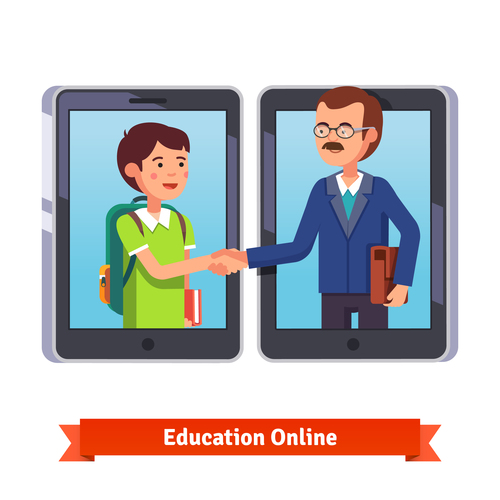 Education online template illustration vector
