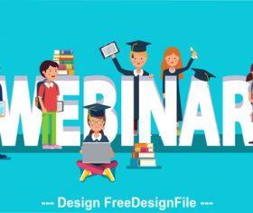 Education template illustration vector