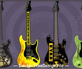 Electric Guitars art vector