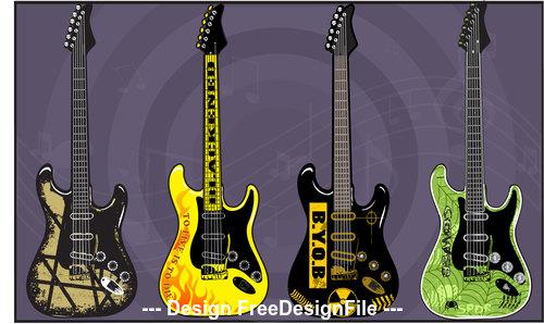 Electric Guitars art vector