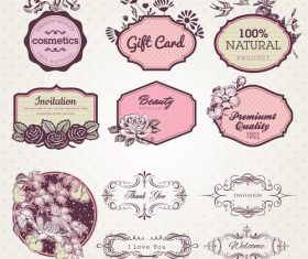 Elegant decorative label vector