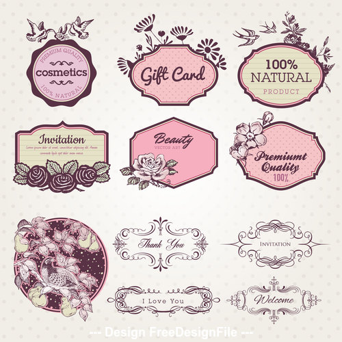 Elegant decorative label vector