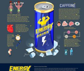 Energy drink cartoon illustration vector