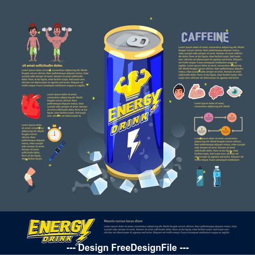Energy drink cartoon illustration vector