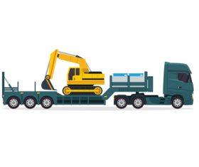 Excavator consignment vector