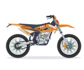 Extreme motorcross bike orange vector