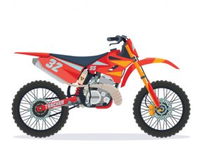 Extreme motorcross bike red vector