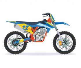Extreme motorcross bike vector