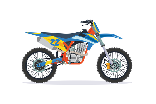 Extreme motorcross bike vector