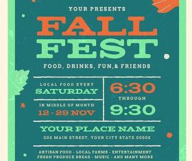 Fall Fetival Event PSD Flyer Template