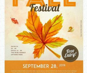 Fall festival flyer psd template