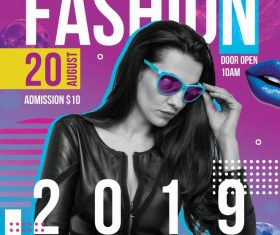 Fashion Night 2019 PSD Flyer template
