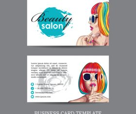 Fashion business card template vector