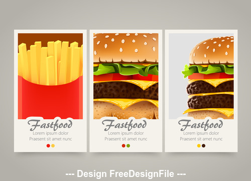 Fast food cover vertical banners vector