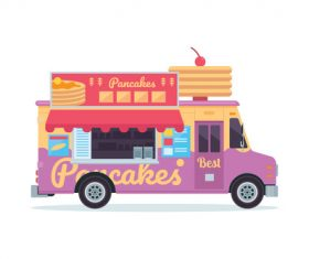 Fast food truck illustration vector