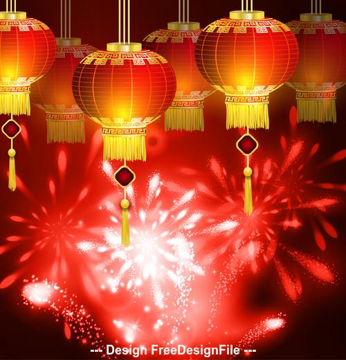 Festive china new year vector