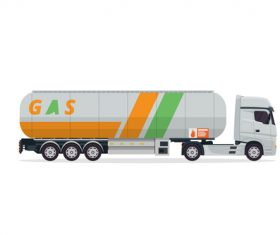 Filling liquid transport truck vector