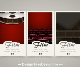 Film vertical banners vector