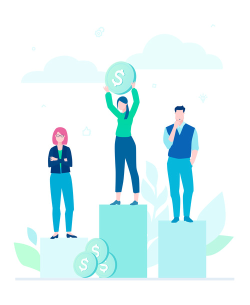 Financial victory flat design style illustration vector