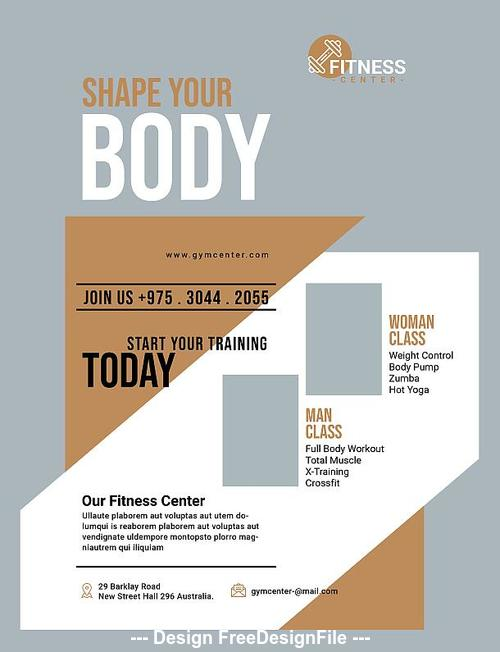 Fitness Flyer Psd Template Design