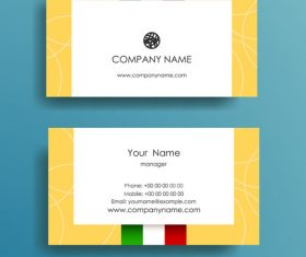 Flag background business card design vector