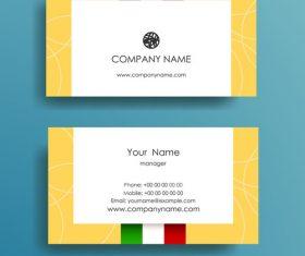 Flag background business card design vector