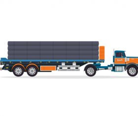 Flat trucks vector