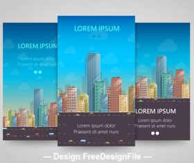 Floor vertical banners vector
