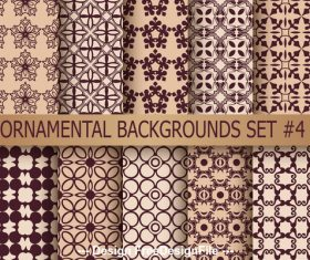 Floral designs brown seamless background vector