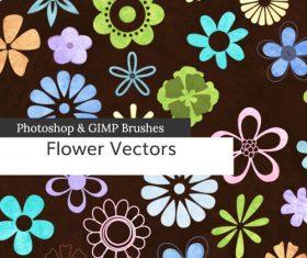 Flower Cartoon PS Brushes