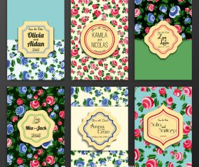 Flower background cover template vector