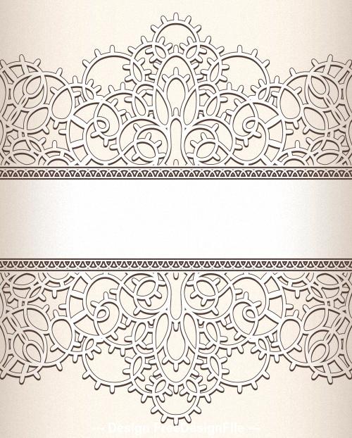 Flower pattern silhouette background vector