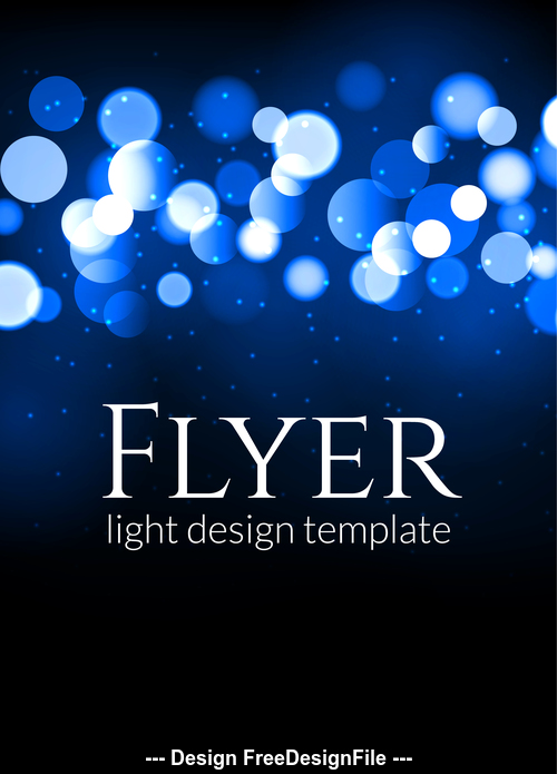 Flyer light design template vector