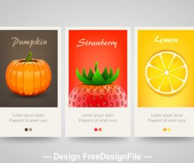 Food cover vertical banners vector