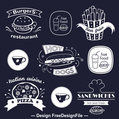 Food icon silhouette vector