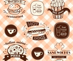 Food sign vector