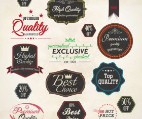 Free quality special emblem label vector